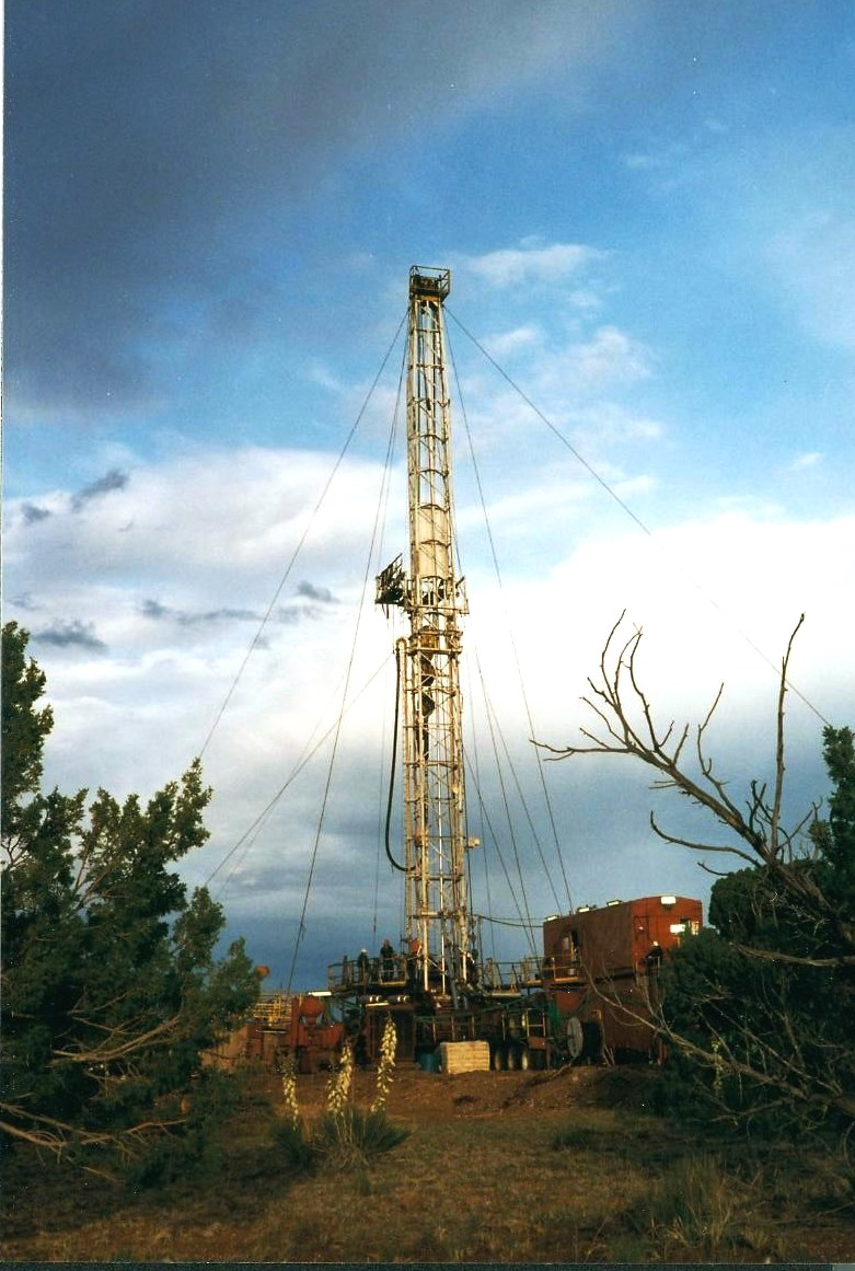 Drilling for CO2 between St Johns and Springerville in 1997
