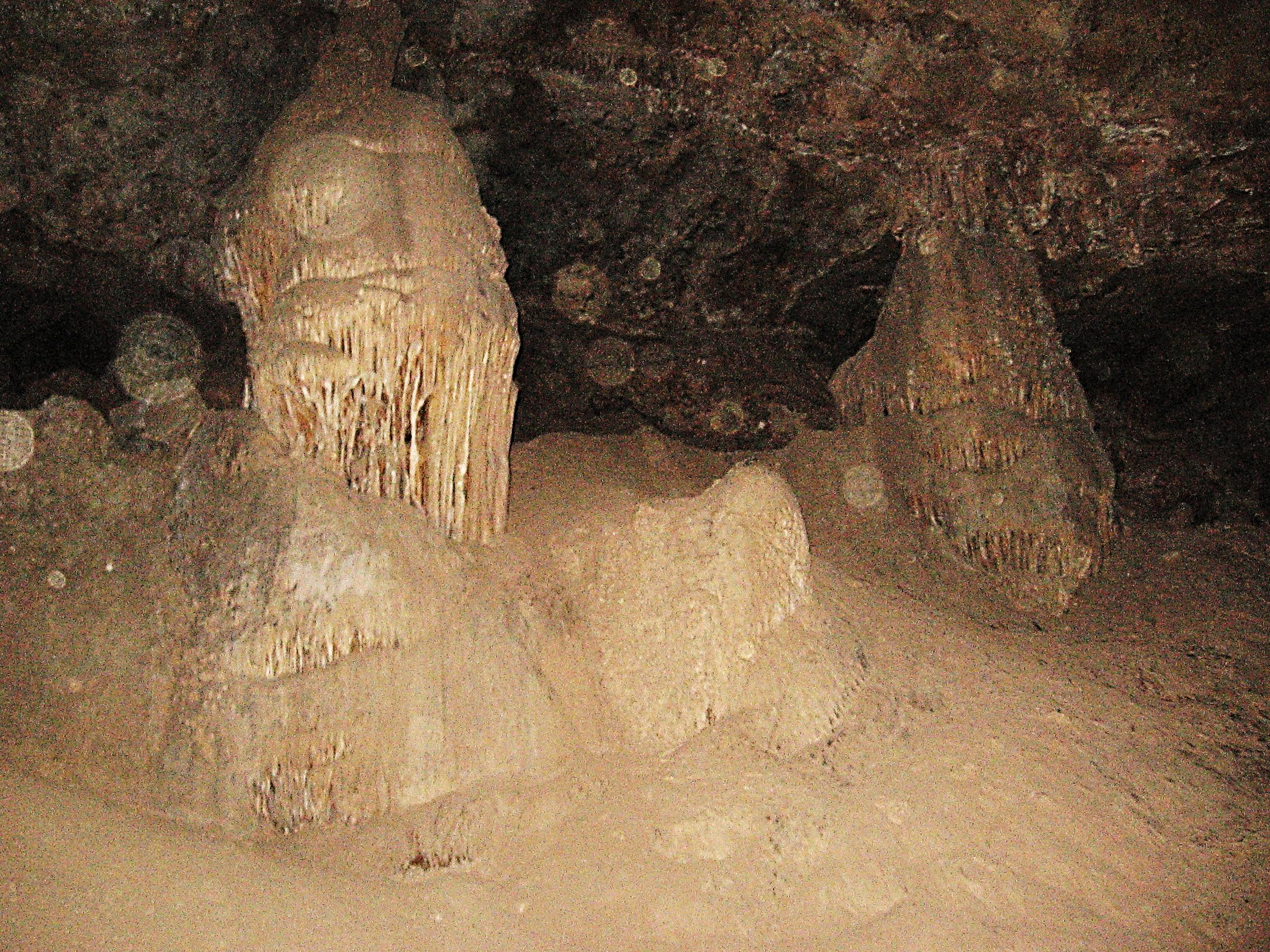 Figure 4: Large columns at the east end of Coronado Cave.