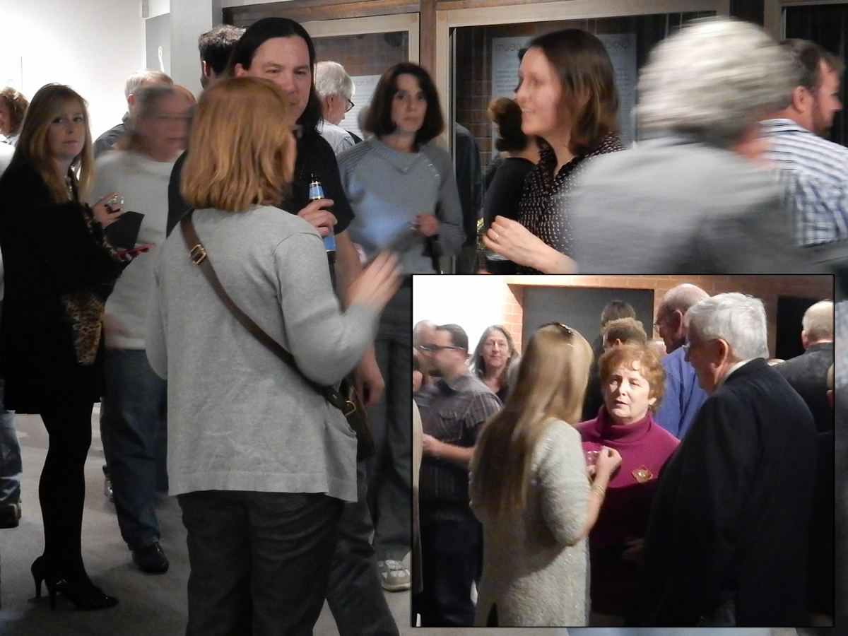 Figure 1. Mineral collectors and enthusiasts at an invitation-only unveiling of America's Mineral Heritage: The Harvard Collection at the Flandrau Science Center & Planetarium the evening of February 5th.