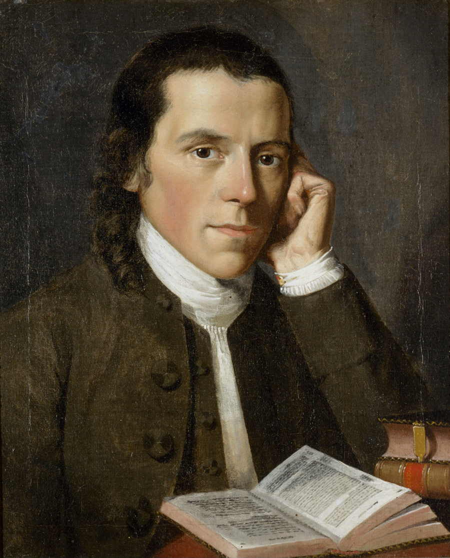 Figure 5. A young and studious Benjamin Waterhouse. Portrait by Gilbert Stuart (1775).