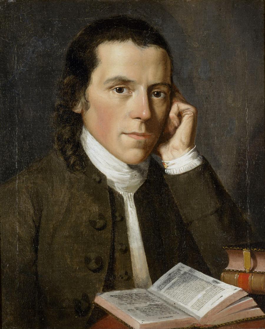 Figure 5. A young and studious Benjamin Waterhouse. Portrait by Gilbert Stuart (1775).