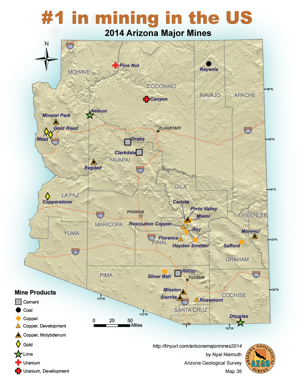 Arizona is #1 mineral producing state