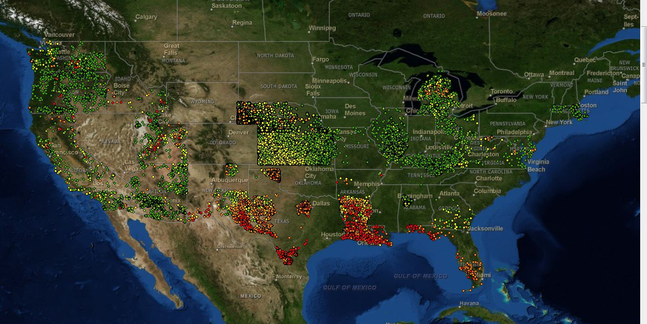 State Geological Survey Contributions To The National Geothermal - Satellite map of usa