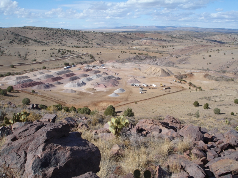 Crushed quartzite quarry in Chino Valley | Arizona Geology Magazine