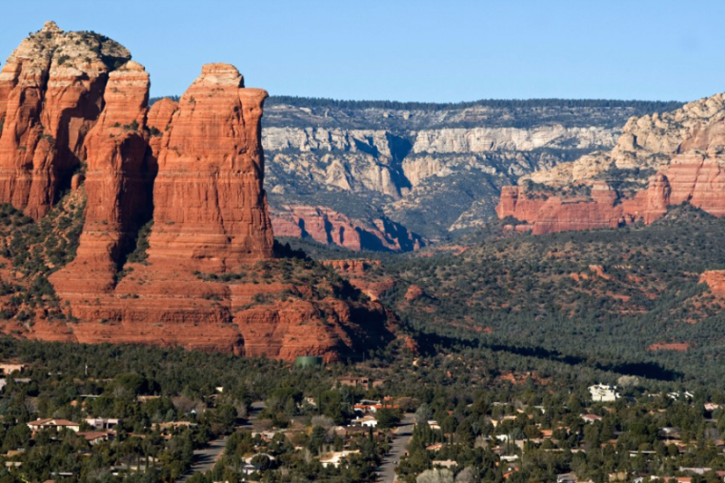 The Mogollon Rim above Sedona, Arizona