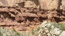 Coconino Sandstone, Hermit Shale, Grand Canyon, Bright Angel Trail