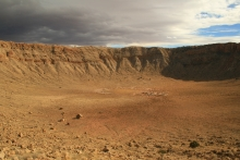 Floor of Meteor Crater, northern Arizona