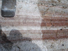 layered pegmatite, granite intrusion