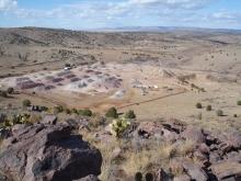 Crushed quartzite quarry in Chino Valley
