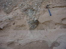 Conglomerate filled channel in sandstone