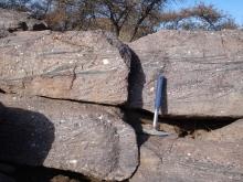 Proterozoic Del Rio Quartzite cross beds