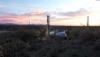 Mining at sunset