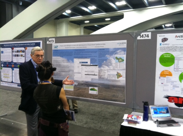 Hawaii's Don Thomas (principal investigator) presents the University of Hawaii's work at the 2012 American Geophysical Union Fall Meeting.