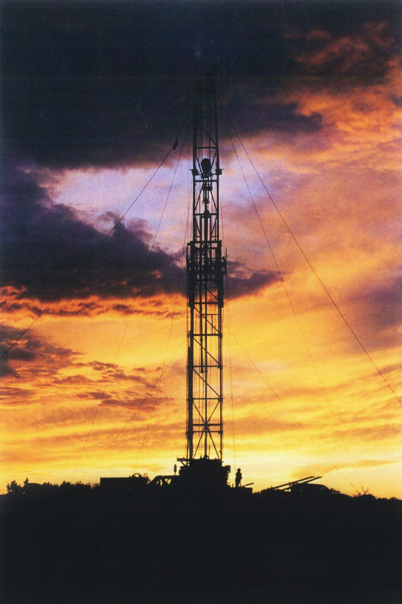 A rig on one of the CO2 wells during a testing program in 2003.