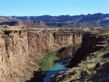 View of the Colorado Gorge looking NNE from Navajo Bridge