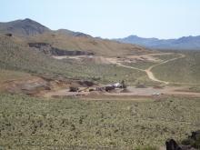 Quarry south of Dolan Springs
