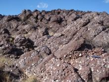Proterozoic Del Rio Quartzite Conglomerate beds