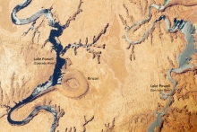 entrenched meander, Glen Canyon, Colorado River, Glen Canyon Dam