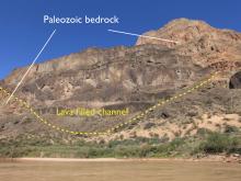 basalt lavas, Uinkaret volcanic field, volcanic dam