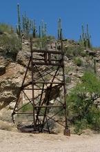 Tip Top Headframe, mining archaeology, tungsten, silver