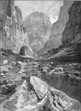 Grand Canyon, wood cut